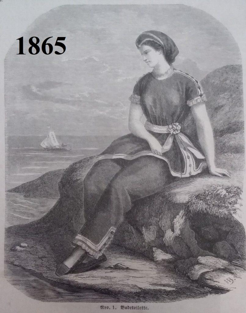 strój kąpielowy z 1865 roku