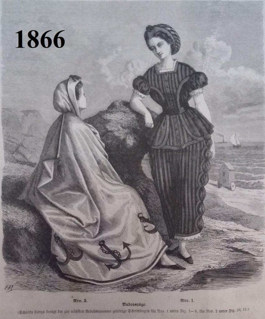 stroje plażowe z 1866 roku