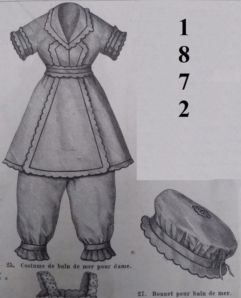 strój kąpielowy 1872 rok