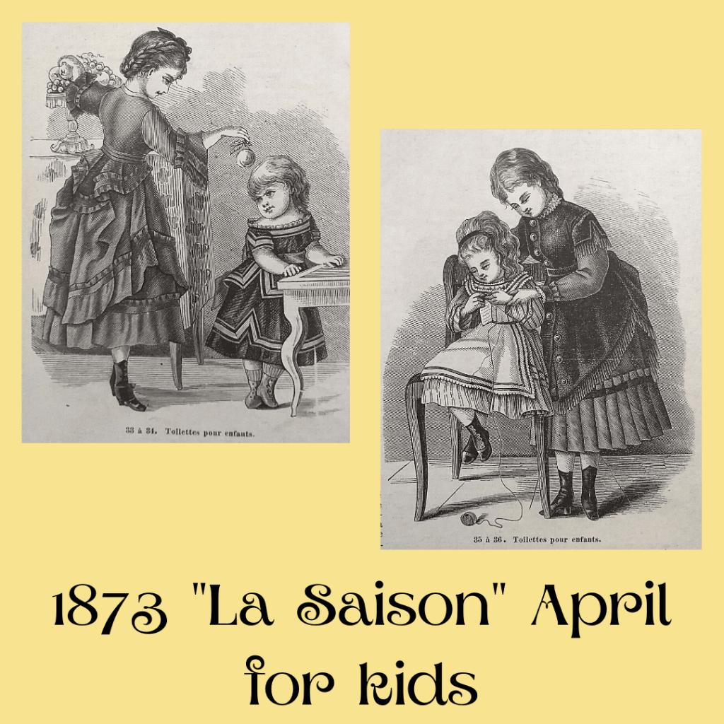 ubrania dziecięce 1873 rok