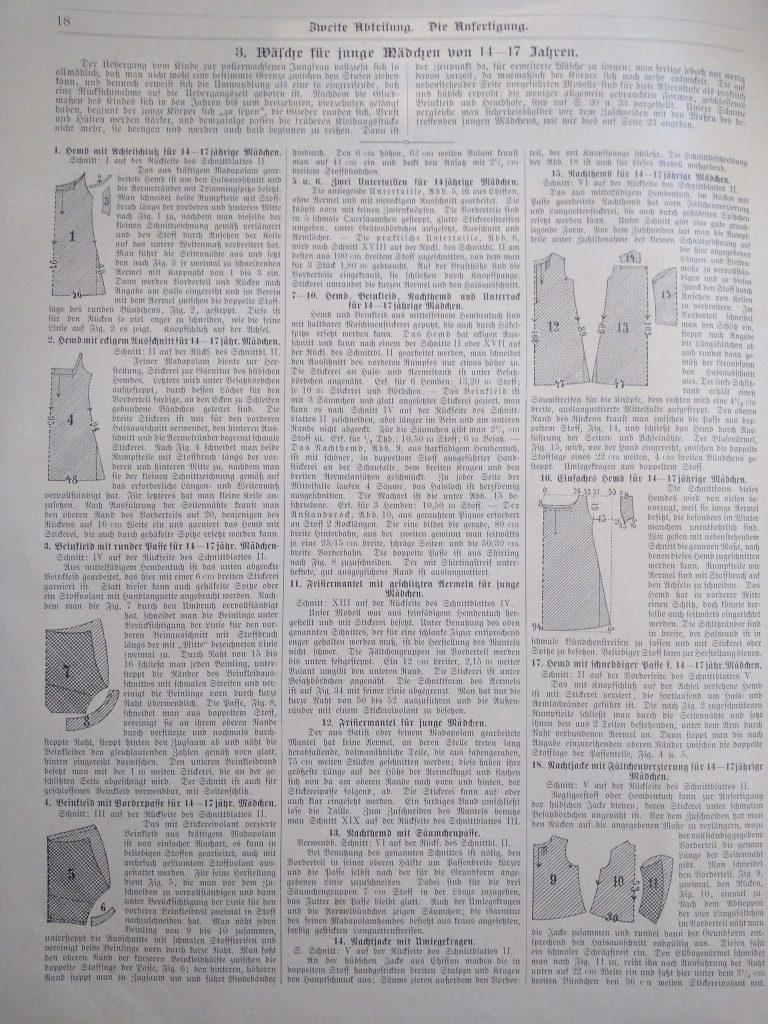 kroje bielizny lata 1890