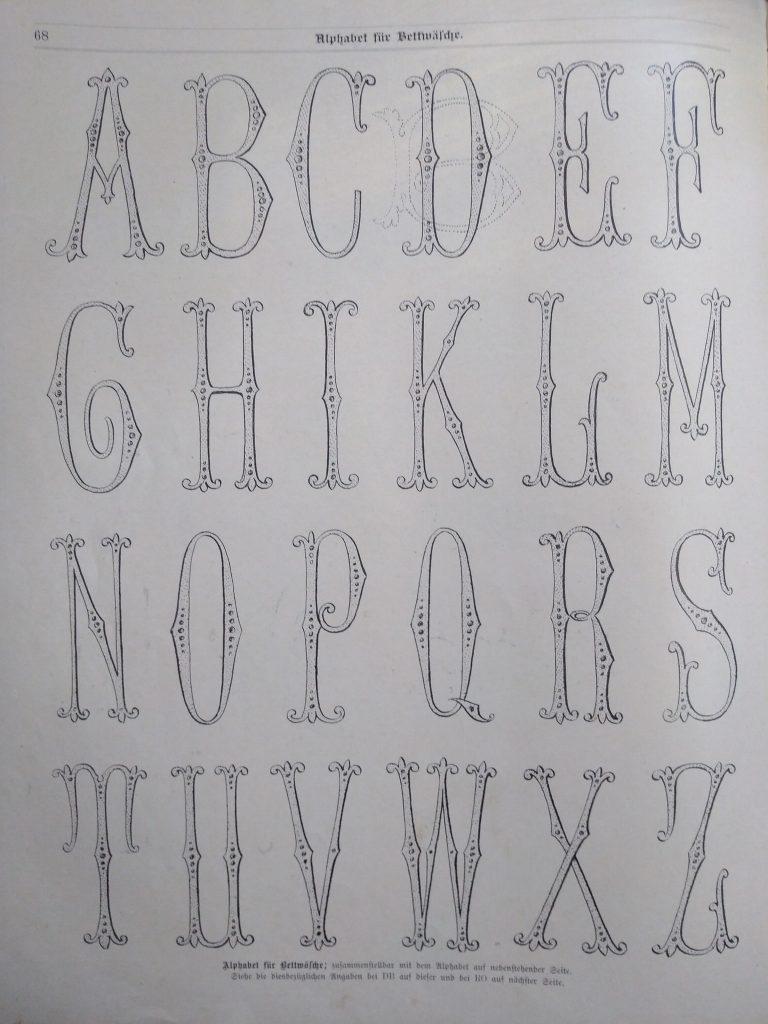 monograms 1890s