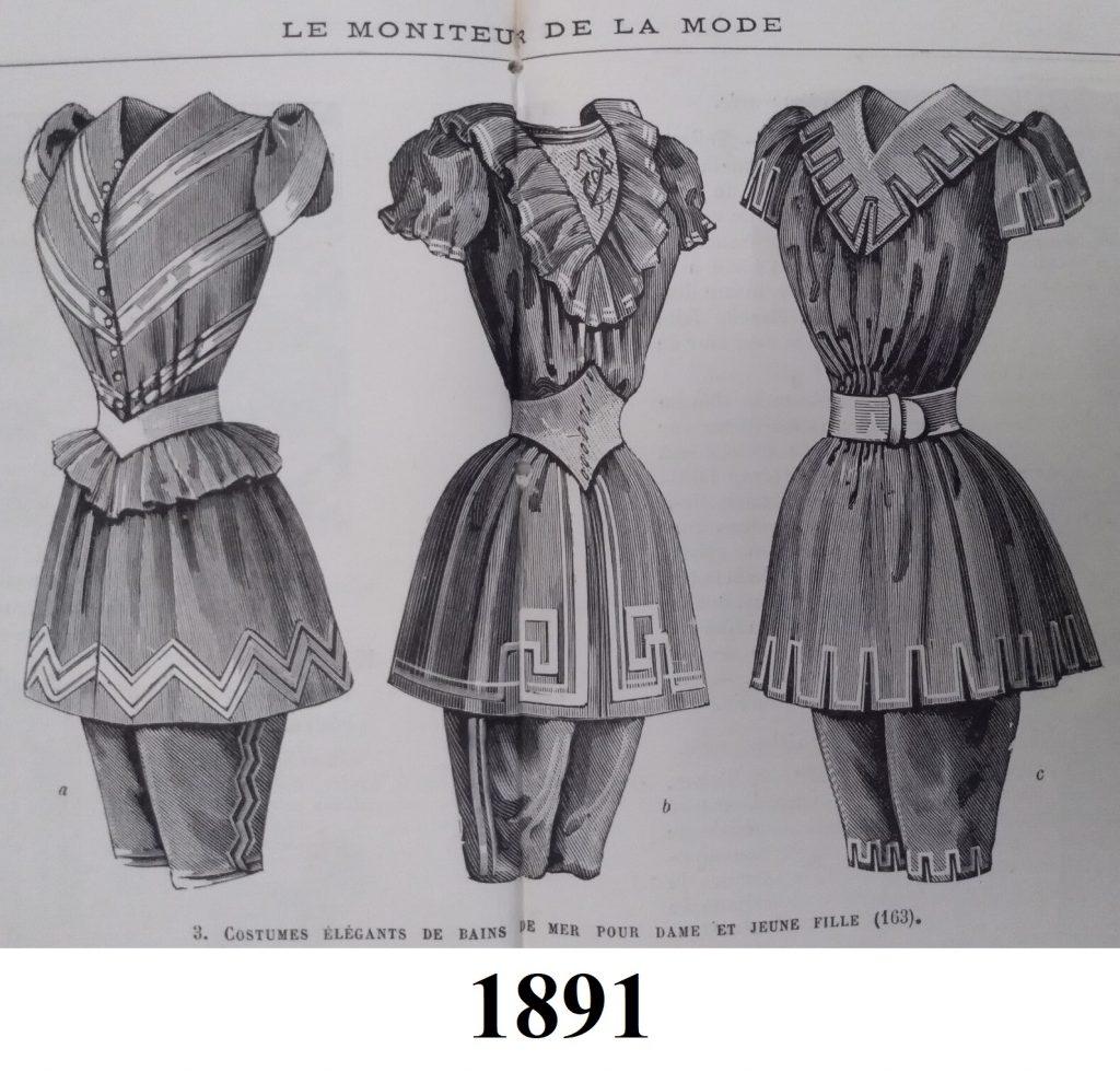 stroje kąpielowe z 1891 roku