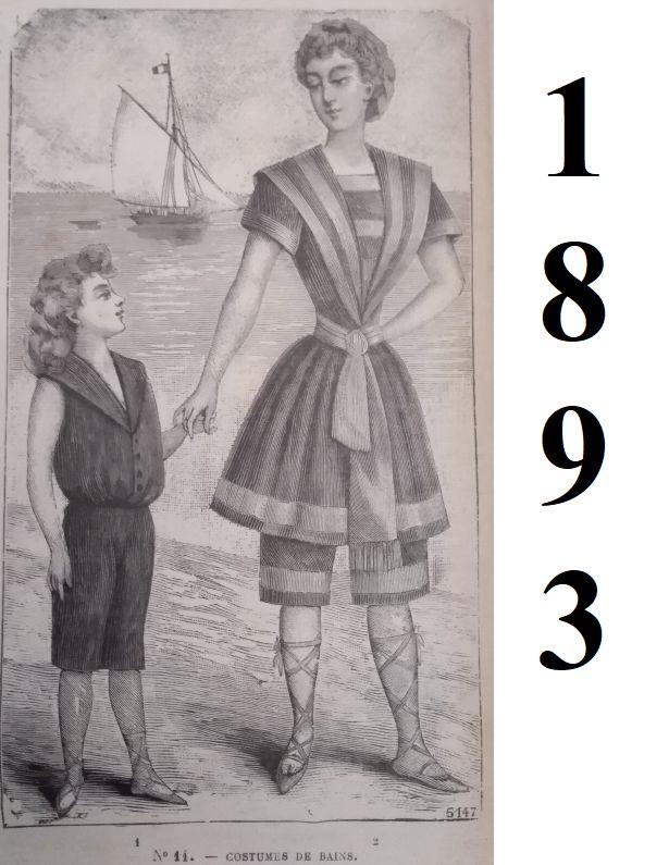 strój plażowy 1893 rok