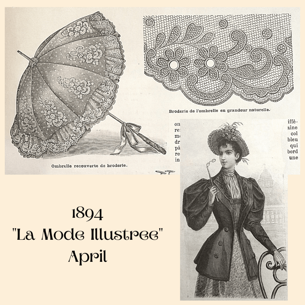 1894 umbrella with lace