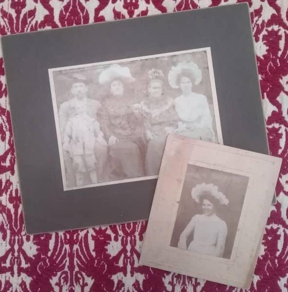1900s-pani w białym kapeluszu