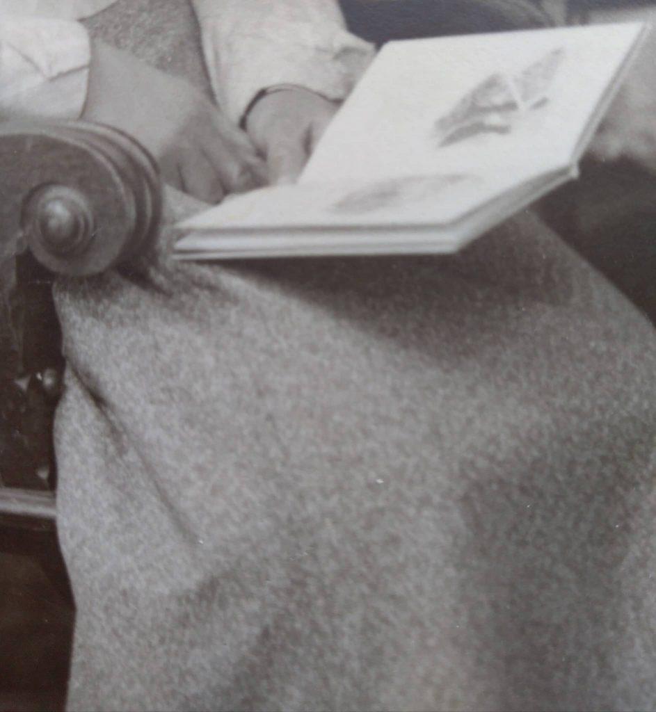 Zbliżenie na tkaninę spódnicy