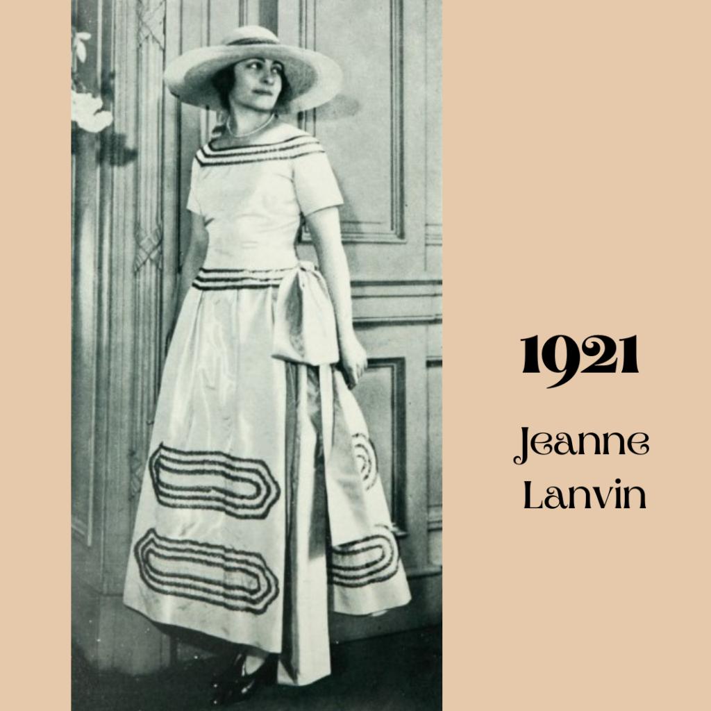 1921 suknia od Lanvin