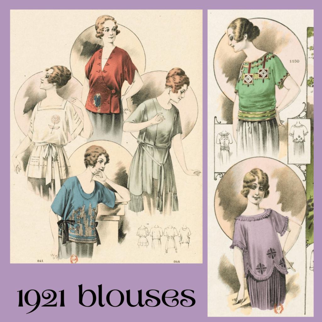 1921 kolorowe bluzki na lato