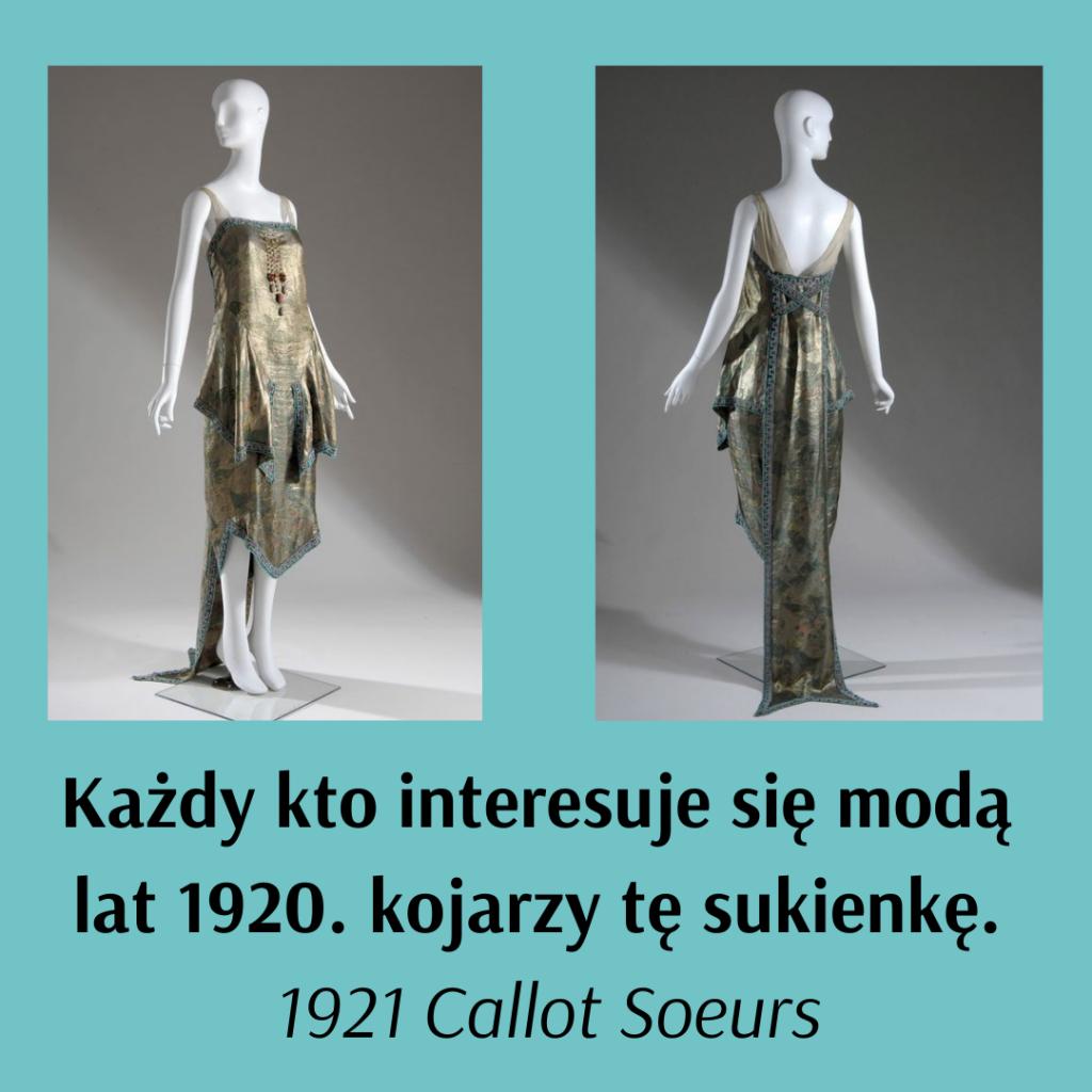 suknia Callot Soeurs z 1921 roku na manekinie