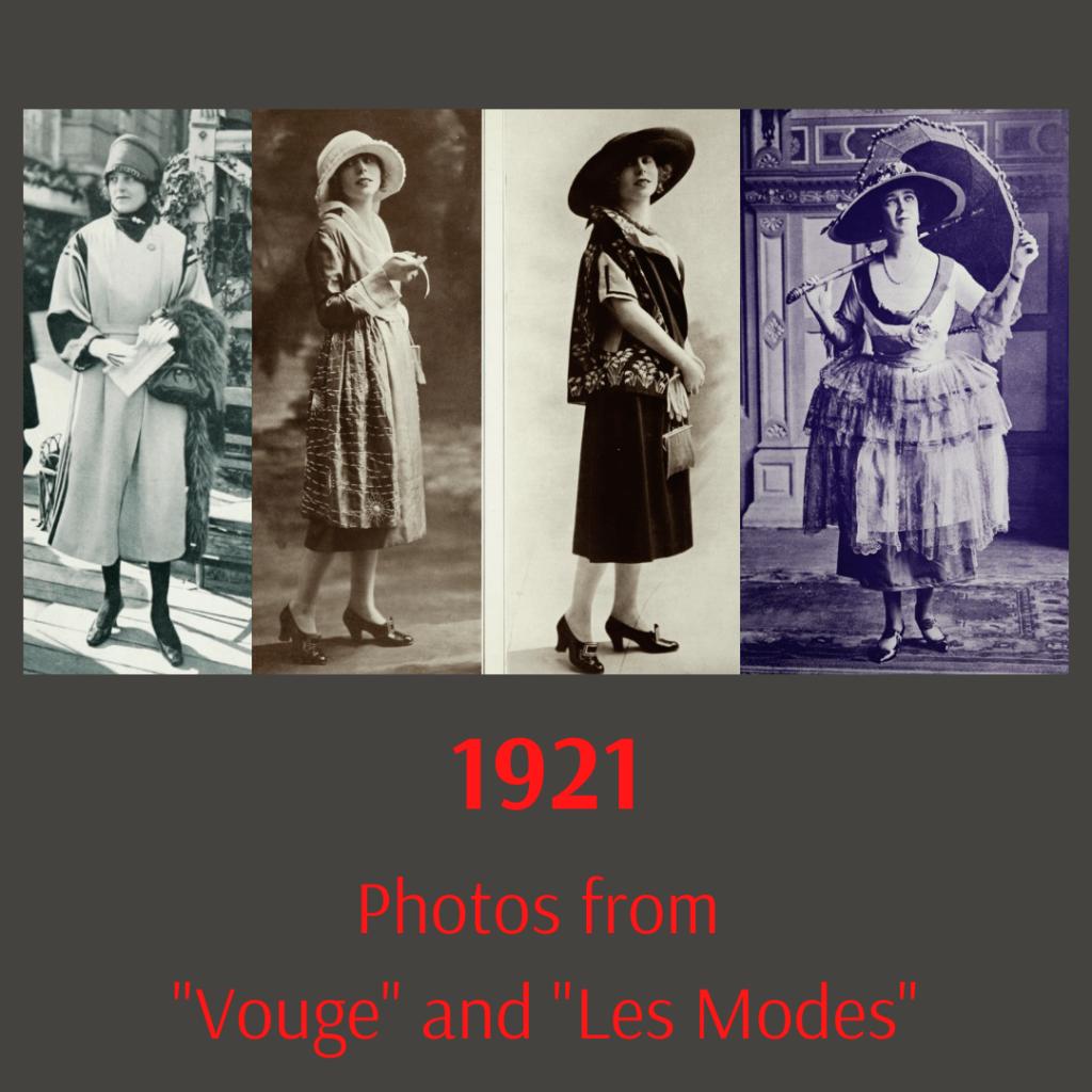 fotografie modnych pań z 1921 roku