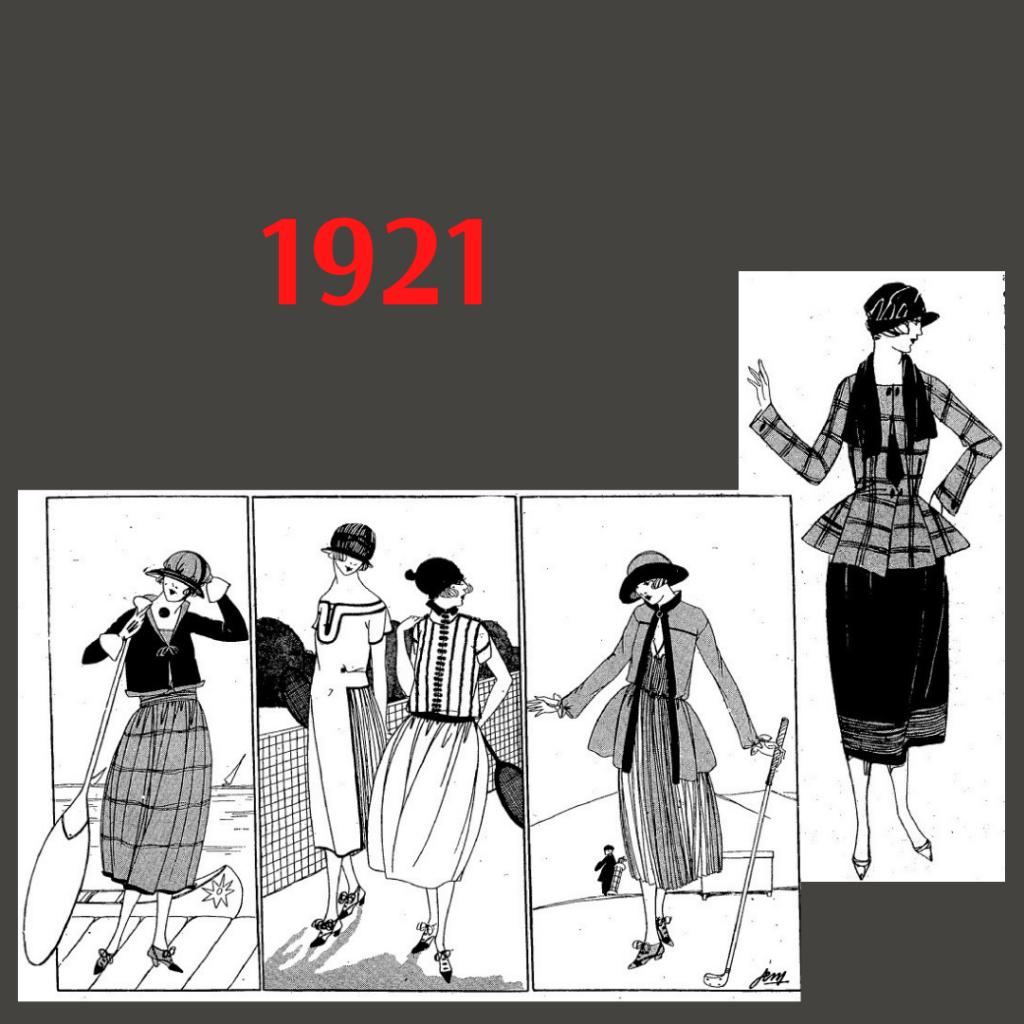 stroje sportowe 1921