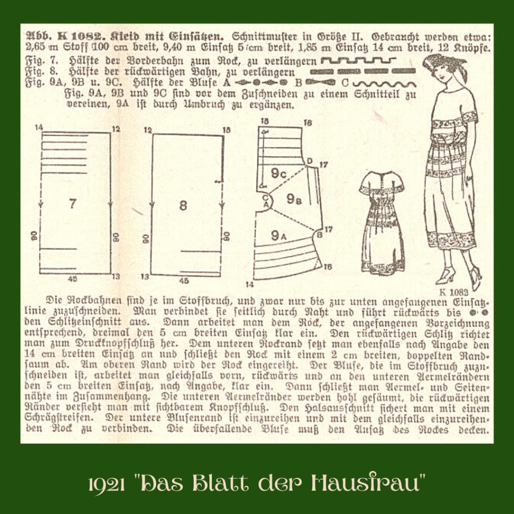 1921 dress diagram