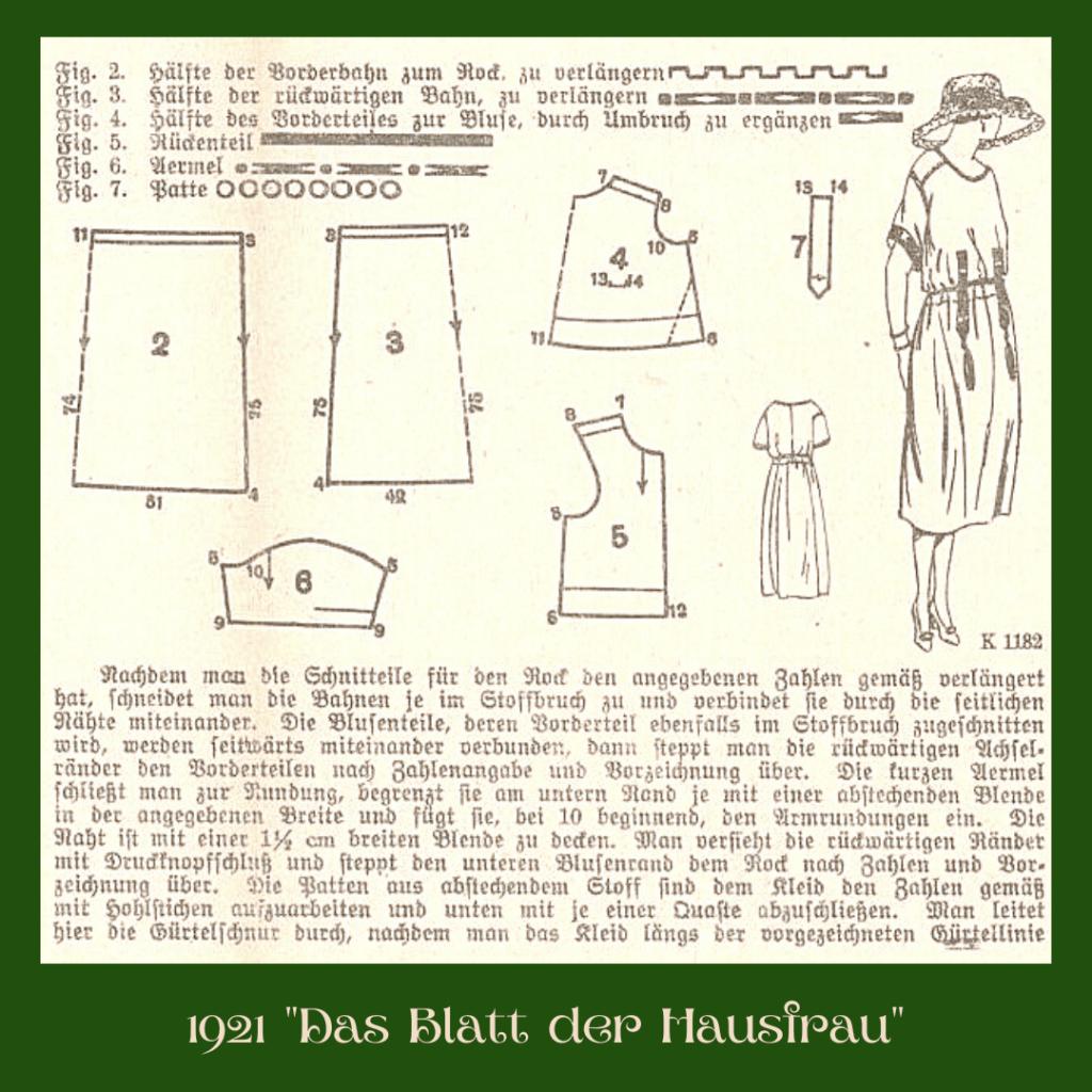 1921 schemat sukienki
