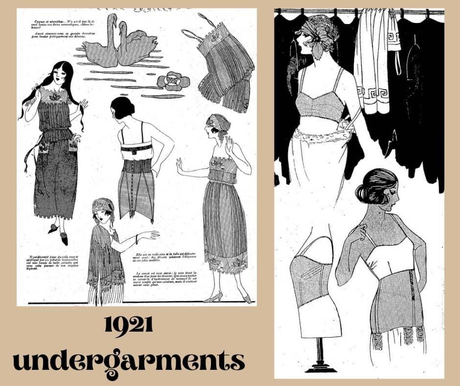 rok 1921 bielizna z haftem łabędzi