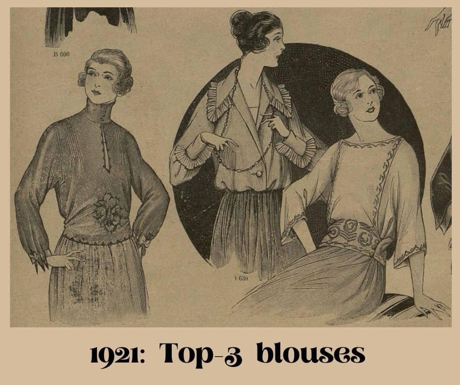 bluzki 1921 rok
