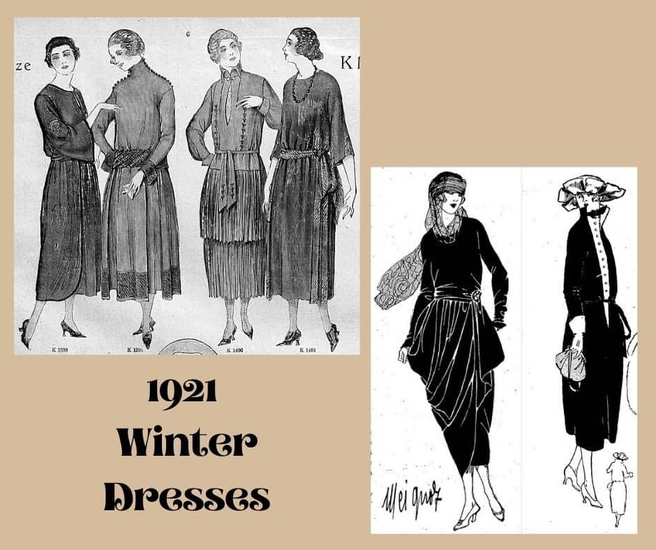 sukienki zimowe 1921 rok