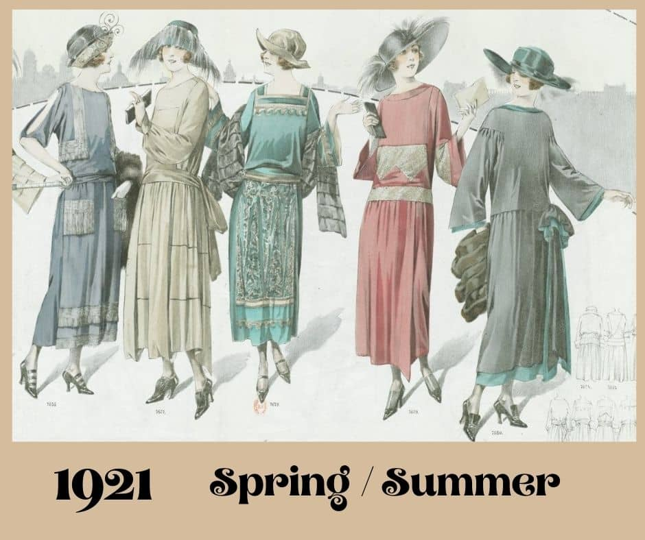1921 modne sukienki