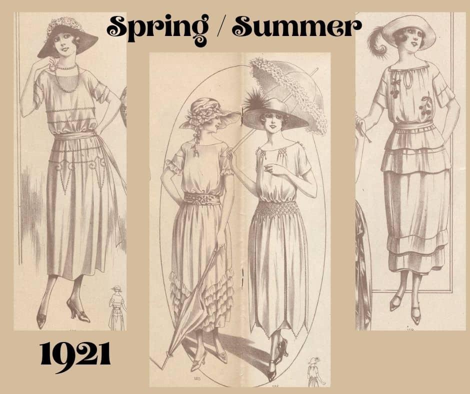 1921 rok sukienki letnie
