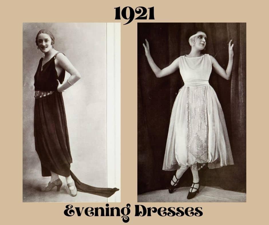 suknia wieczorowa 1921 rok