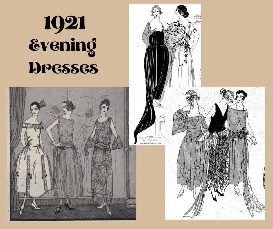 suknie wieczorowe 1921