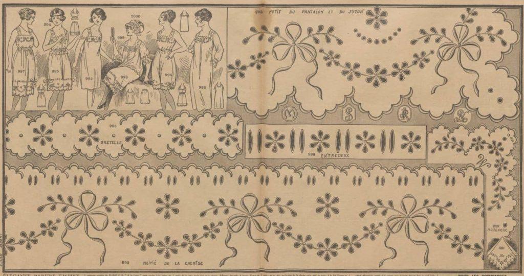 hafty na bieliźnie 1921 rok