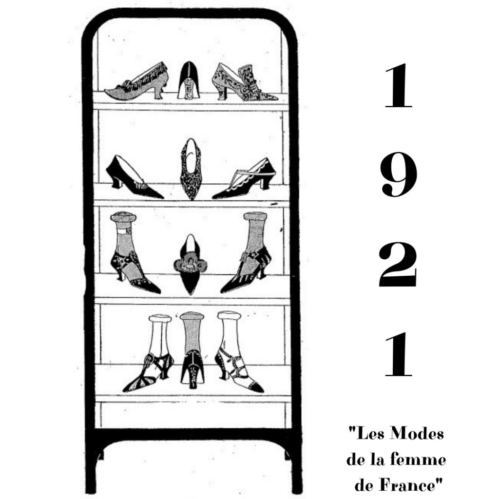rysunek butów 1921 rok