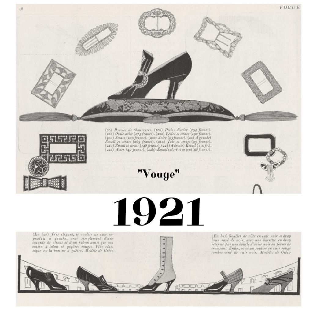 buty wieczorowe 1921 rok