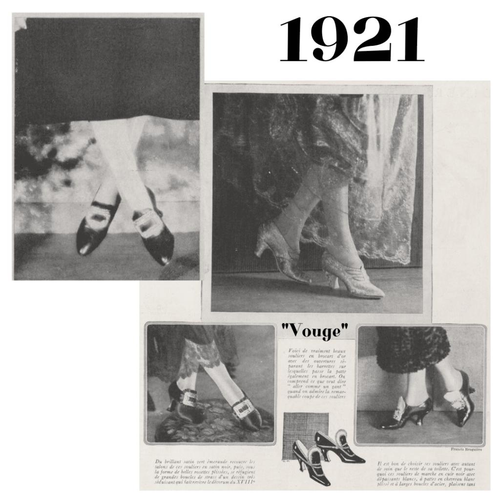 Vogue 1921 rok - buty