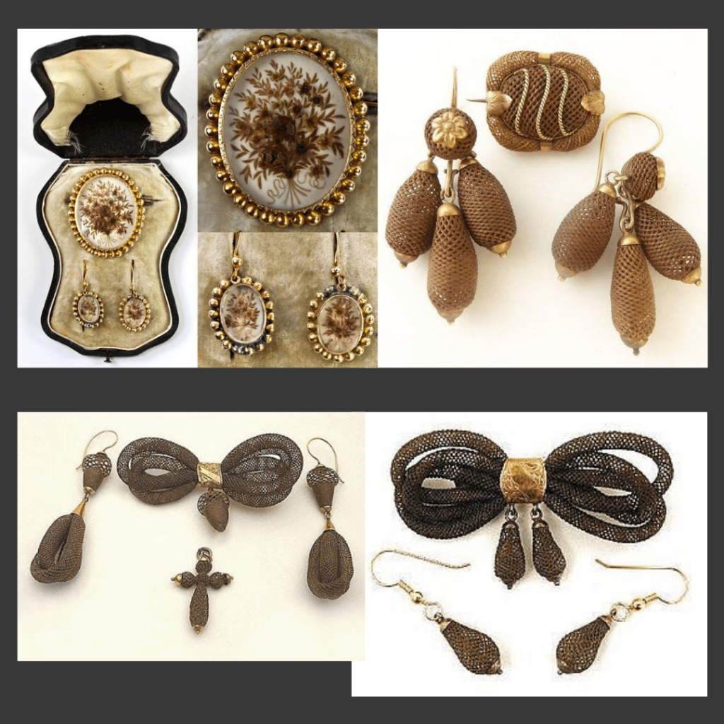 Zestawy biżuterii z włosów