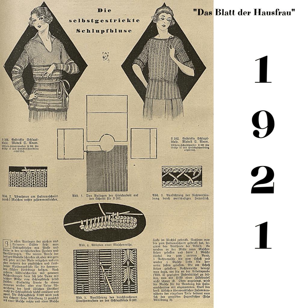 sweterki 1921 rok