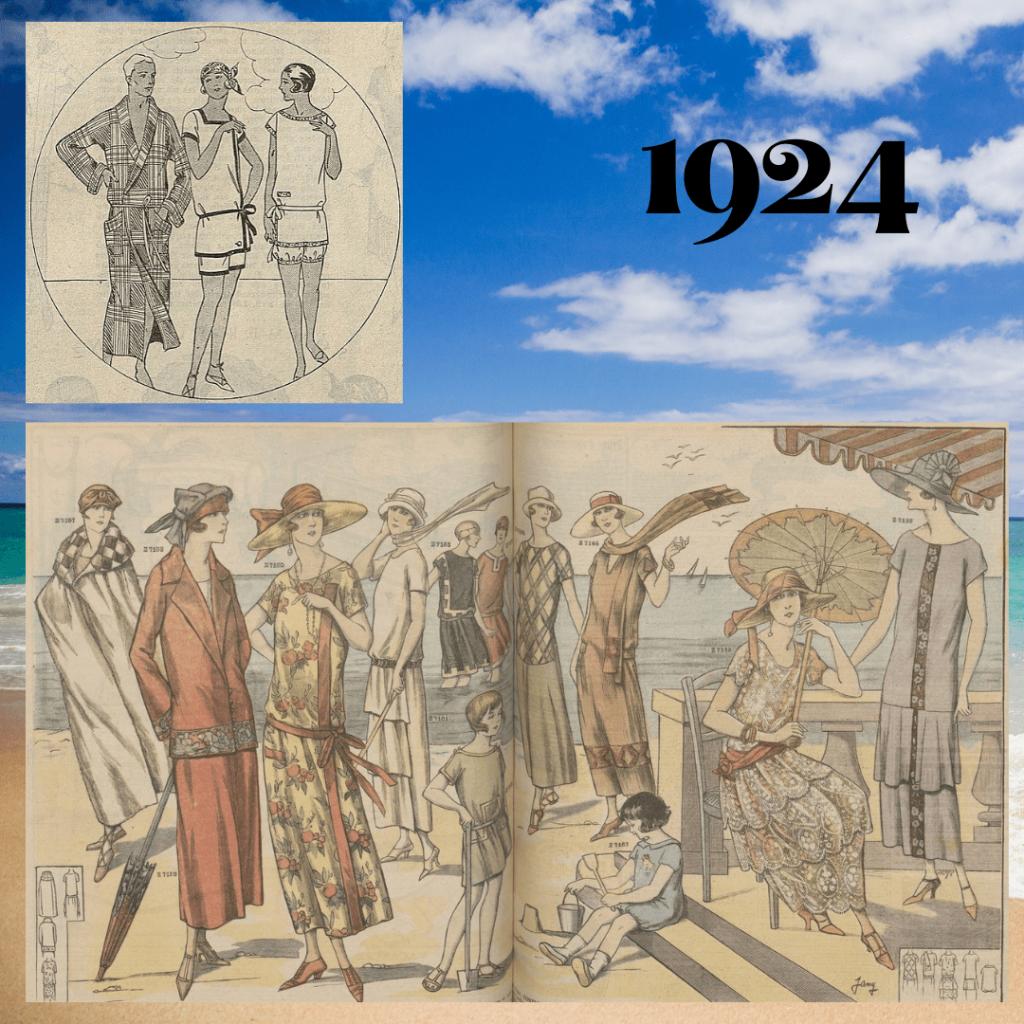 stroje kąpielowe 1924