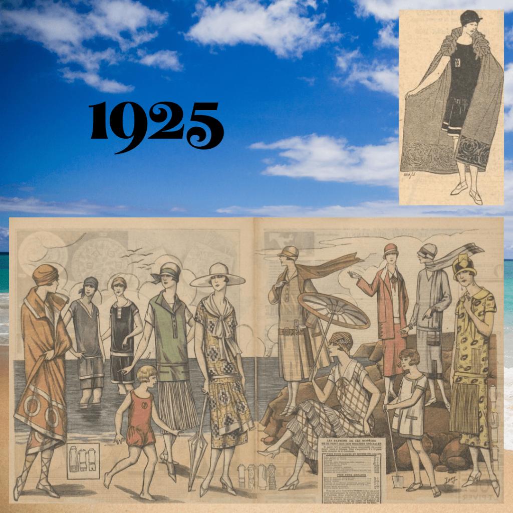 stroje plażowe 1925