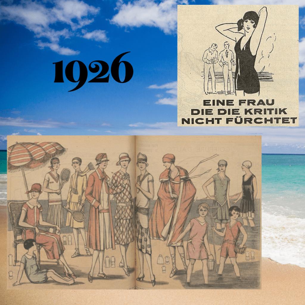 stroje plażowe 1926 rok