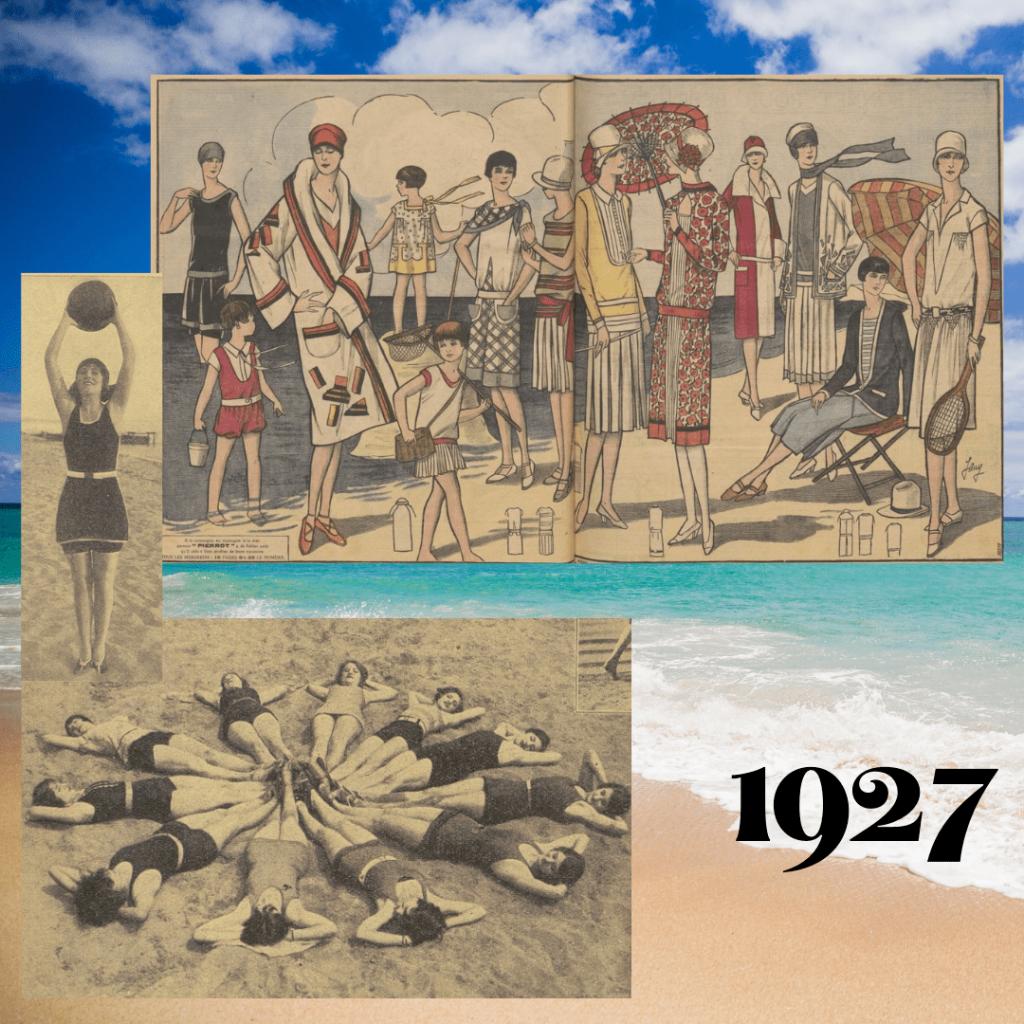 stroje kąpielowe 1927
