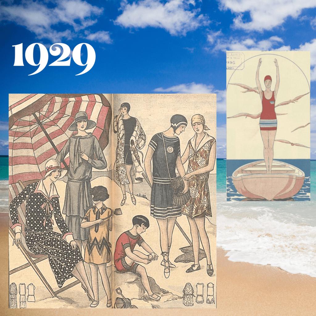 stroje kąpielowe 1929