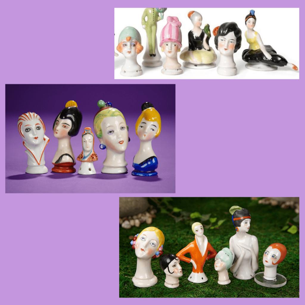 ArtDeco - porcelanowe główki lalek
