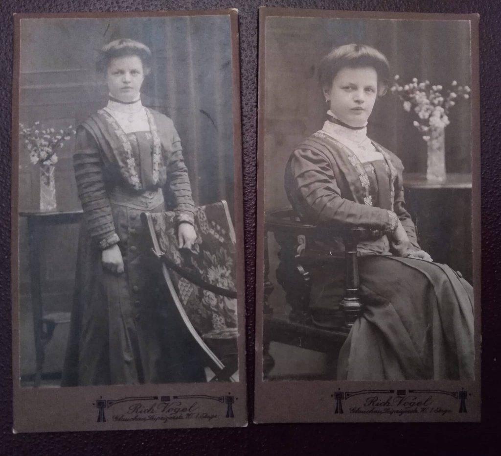 Dwa ujęcia jednej kobiety