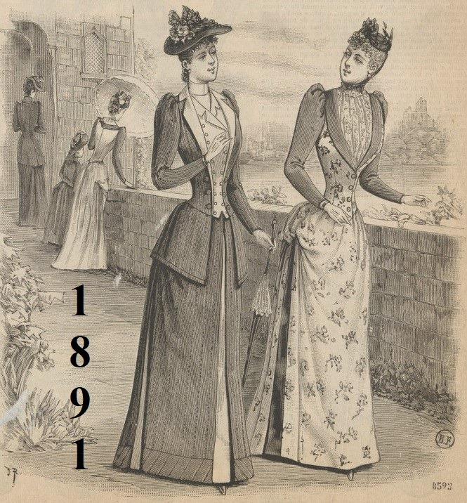 Ilustracja z modą 1891 roku
