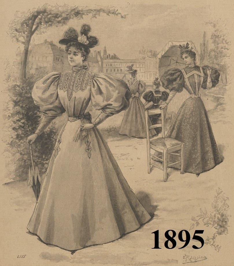 ubiór damski 1895 rok
