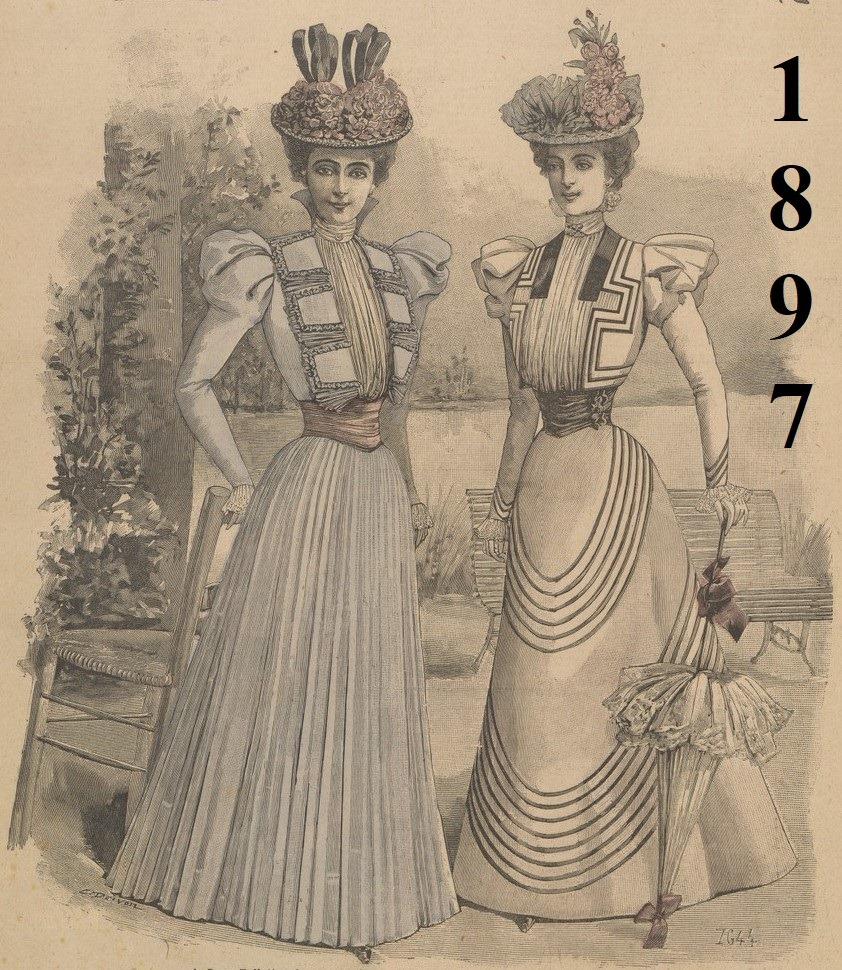 dwie suknie z 1897 roku