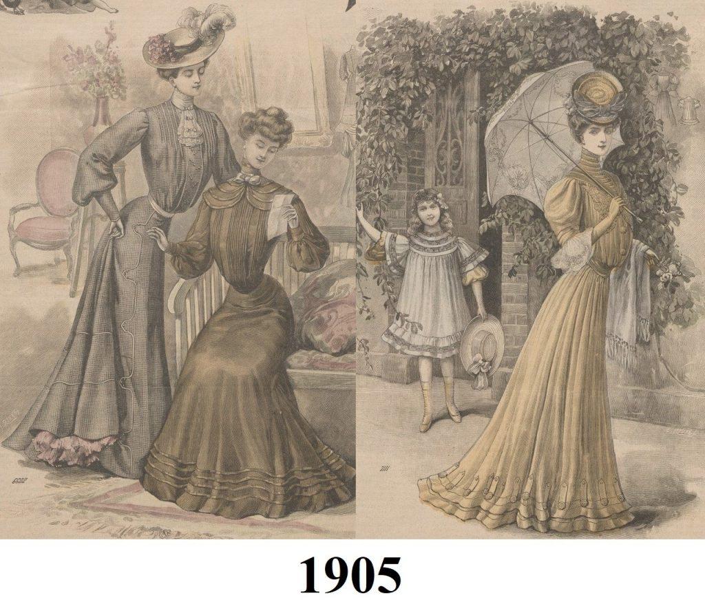 moda 1905 roku