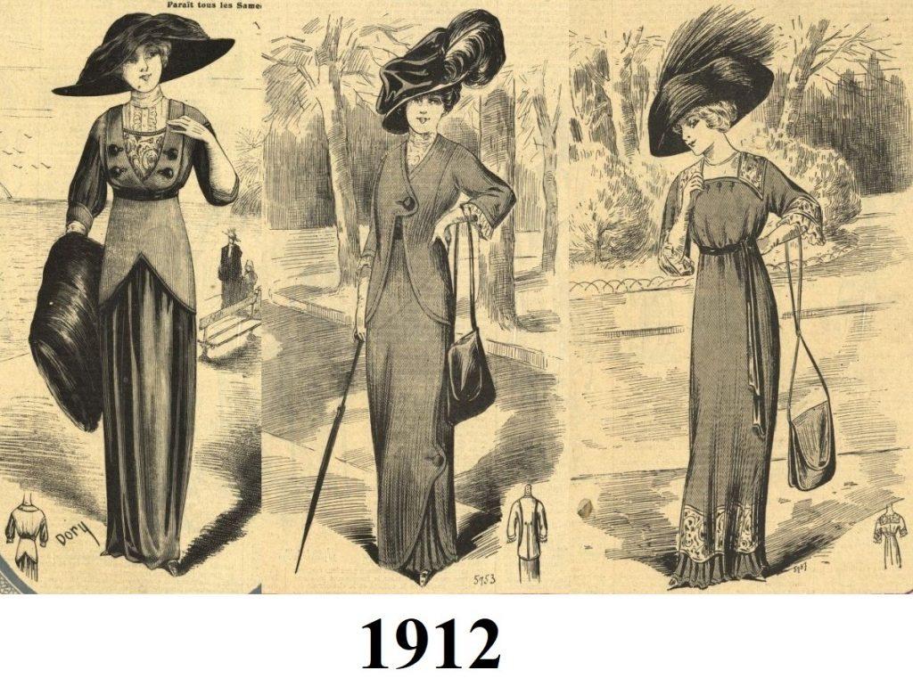 suknie z 1912 roku