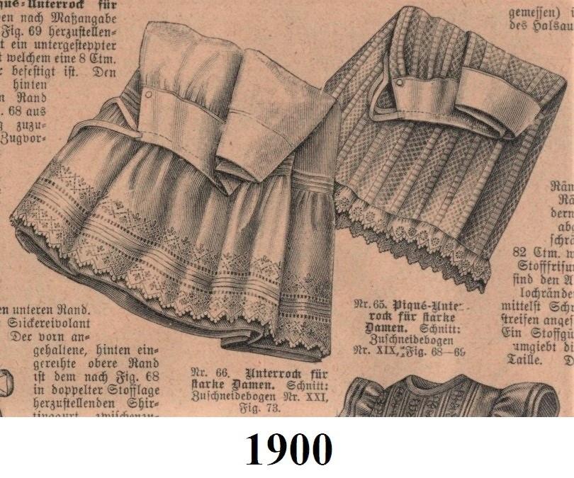 1900 spódniczki spodnie
