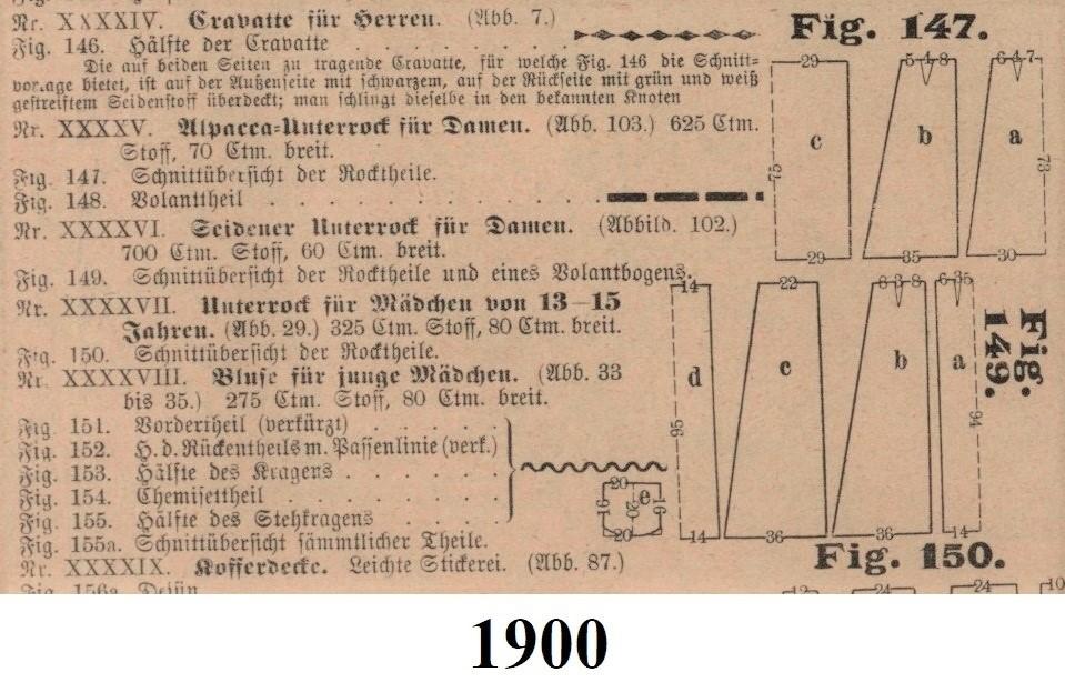 schematy halek na 1900 rok