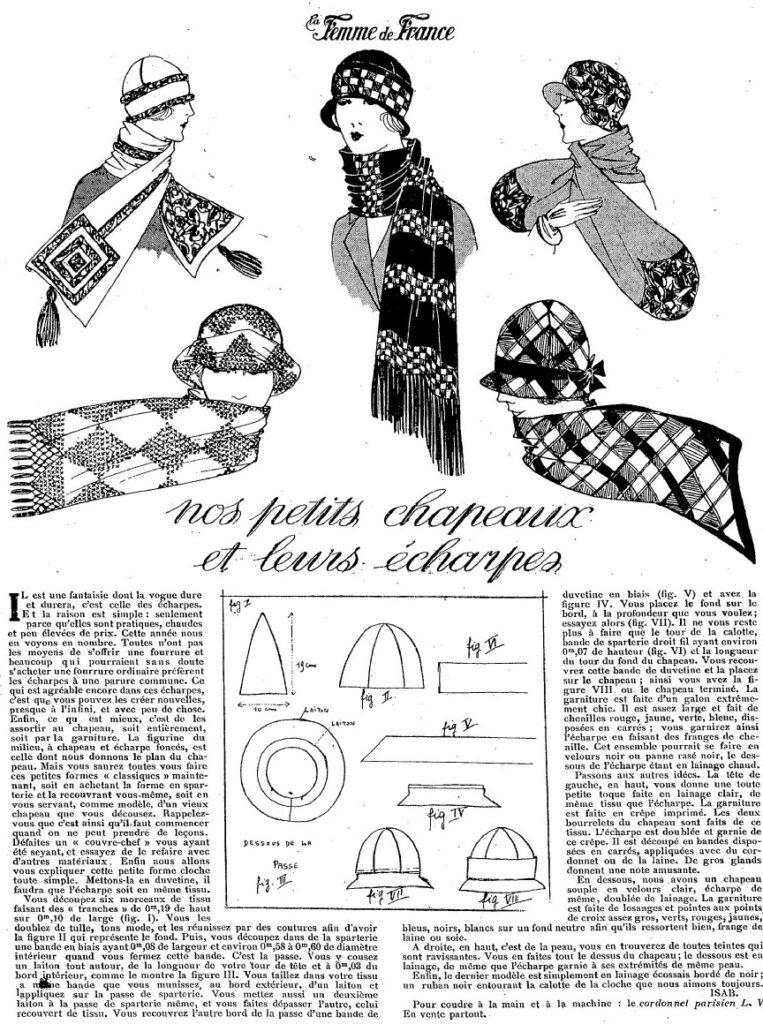 1924 skoordynowane kaski i szale