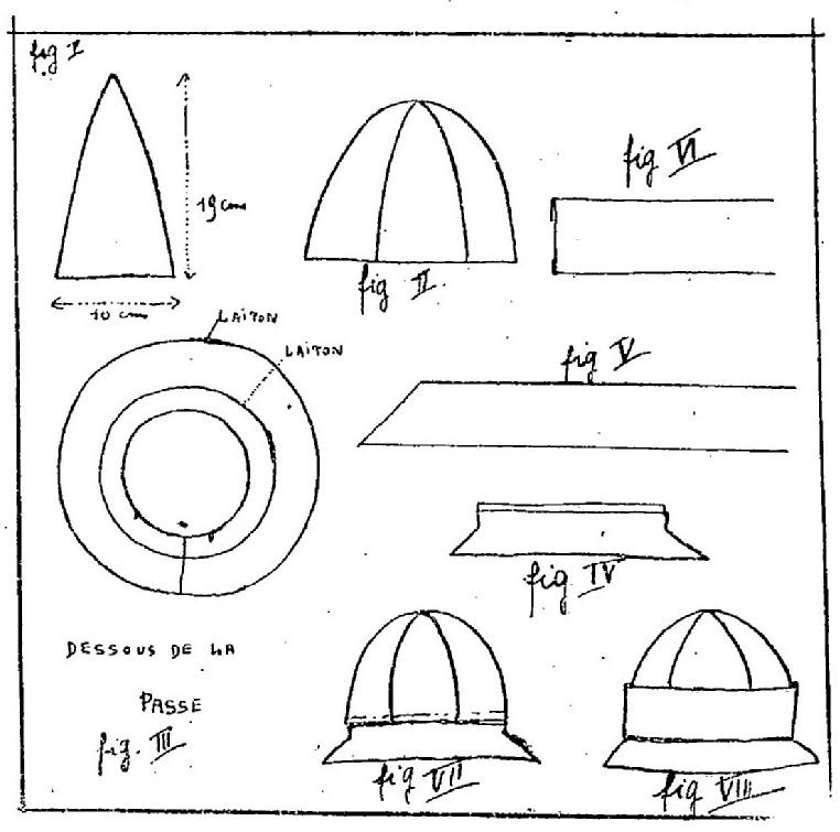 1924 wykrój nakrycia głowy