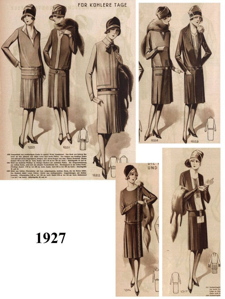 1920s animal furs in outfits