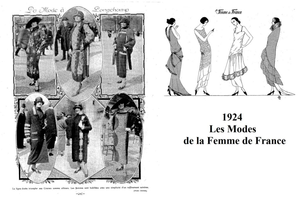 1924 sylwetka kobieca - rysunki kontra zdjęcia