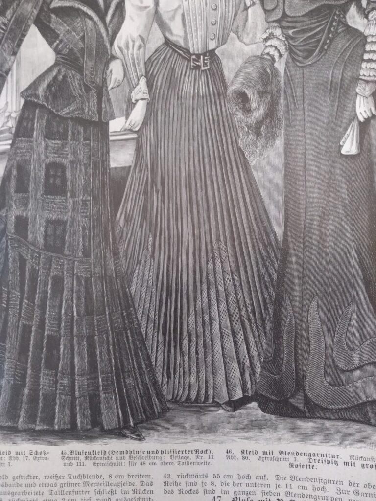 Spódnice secesyjne z 1905 roku